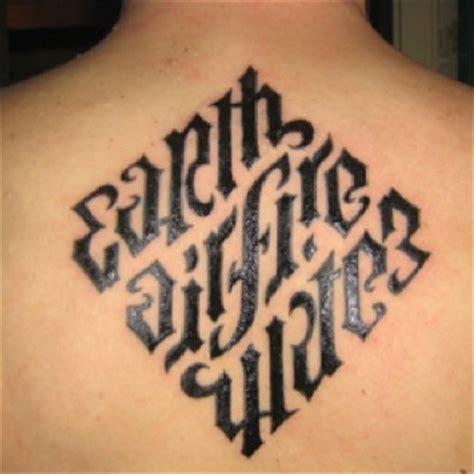 anagram tattoo designs anagram earth air water tattoos