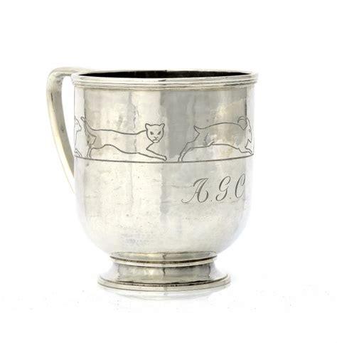 Handcraft Guild - a guild of handicraft silver christening mug 8cm h
