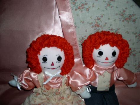 Handmade Raggedy And Andy Dolls - handmade raggedy and andy dolls one of a cloth