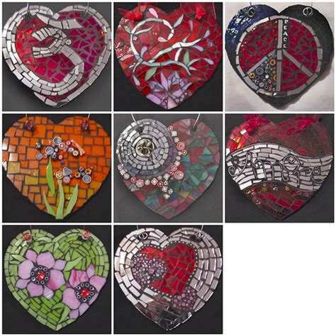 mosaic heart pattern mosaic heart ornaments flickr photo sharing