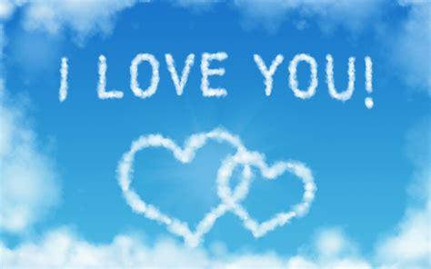 imagenes l love you fondo de pantalla i love you in the sky hd