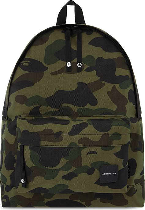 Bathing Ape Sling Bag Camo a bathing ape camo print cordura 174 backpack in green for