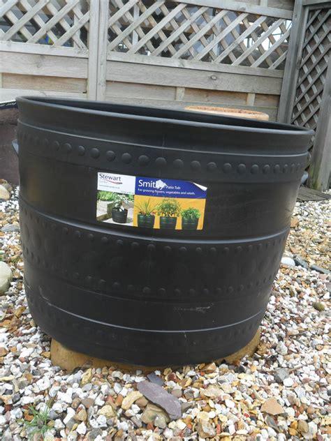 Large Plastic Planter Tubs 50cm Stewart Plastic Planter Plant Pot Smithy Patio Tub