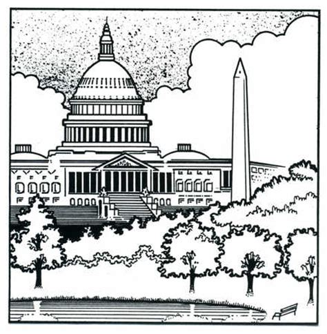 united states capitol building coloring page stock illustration american capitol building and