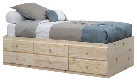 twin platform bed with 6 drawers twin storage bed with 6 drawers unfinished contemporary