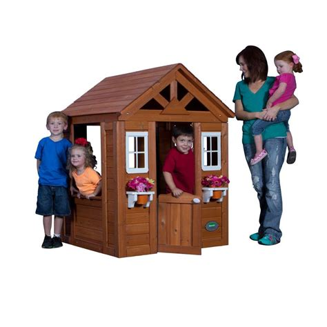 backyard discovery timberlake all cedar playhouse 65314com