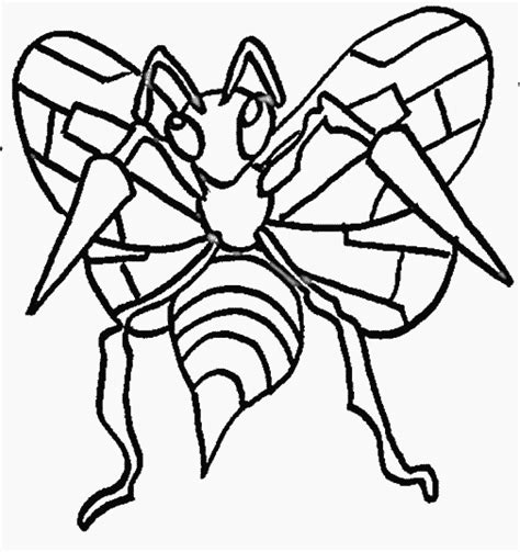 pokemon coloring pages beedrill d 87 pokemon coloring pages coloring book