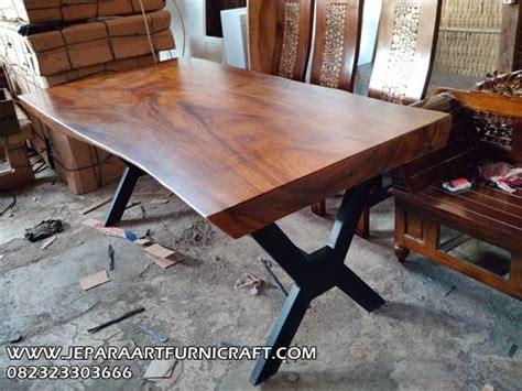 jual meja makan solid kaki besi  kursi harga murah