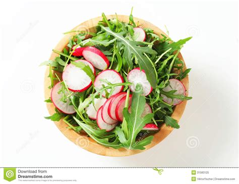 slices of design salad bowl by bosa stylepark salad greens with sliced radish royalty free stock photo