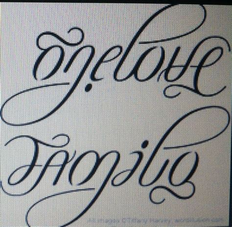 love and family tattoo designs one family ambigram design