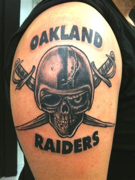 raiders skull tattoo designs 65 meaningful oakland raiders tattoos ideas golfian
