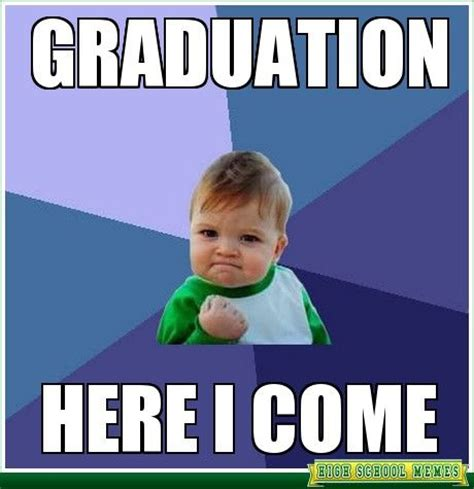 High School Senior Meme - graduation memes success kid graduation quotes