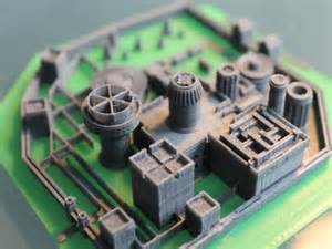 Printed miniature of winterfell from daniel damm301 is really cool