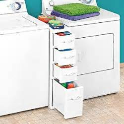 Narrow Clothes Dryer Wicker Laundry Organizer Between Washer Dryer Drawers