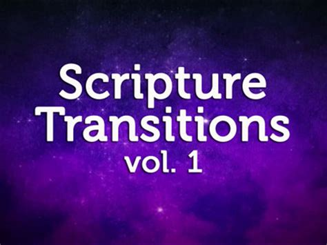 Transition Volume 1 scripture transitions volume 1 soul refinery