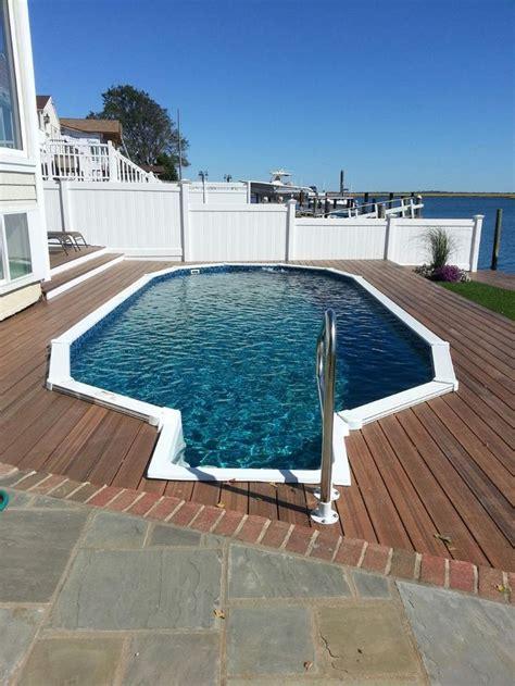aquasport semi inground pool  step long island