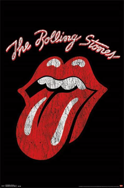 Vintage Home Decor by Rolling Stones Classic Logo Wall Poster