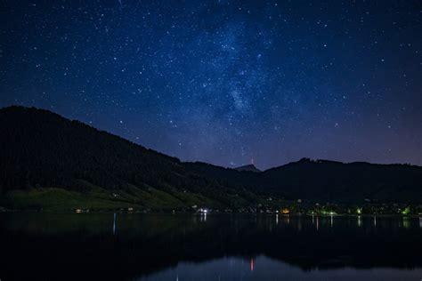 wallpaper pemandangan bintang malam gambar pemandangan sinar matahari bintang fajar