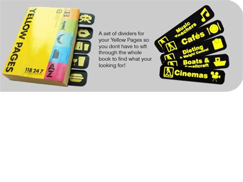 Yellow Pages Uk Search Yellow Pages Dividers For Your Directory Uk