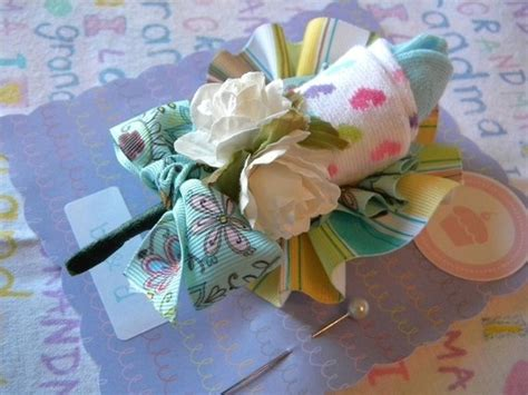 Sock Corsage For Baby Shower by Baby Sock Corsage Styling Guests And
