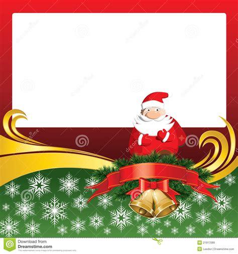 free christmas cards santa claus cards vector christmas card with bells and santa claus royalty