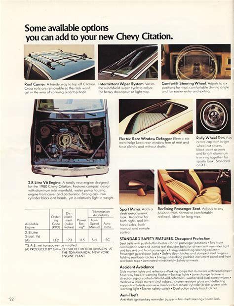 old car repair manuals 1980 chevrolet citation transmission control directory index chevrolet 1980 chevrolet 1980 chevrolet citation brochure