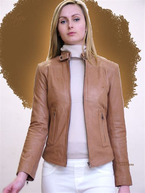 ladies brown biker ladies brown leather jacket uk outdoor jacket