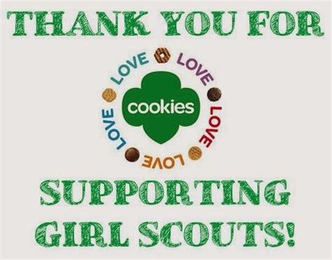 printable thank you cards girl scout cookies girl scout cookie thank you cards printable