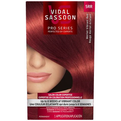 red hair dye box vidal sassoon pro series vidal sassoon pro series london