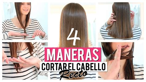 como cortar el pelo en capas yo misma c 243 mo cortar el cabello recto 4 opciones youtube