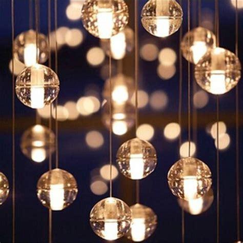 Bubble Glass Pendant Light Modern Decoration Led Crystal Bubbles Ball Light Dinning