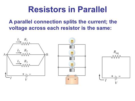 three resistors connected in parallel the individual voltages labeled electric currents and resistance ppt
