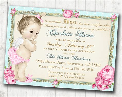 Template Etsy Shabby Chic Baby Shower Invitations Shabby Chic Baby Shower Invitation Etsy Baby Shower Invitation Templates