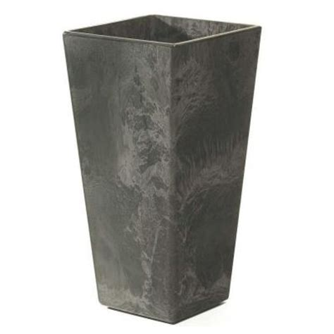 Home Depot Planter by Home Decorators Collection Ella 11 In Square Black Resin