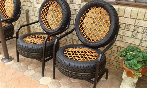 How To Make A Tire Chair by A Chair Made From Tires Mildlyinteresting