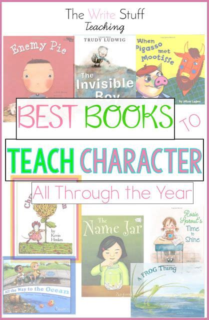 picture books to teach character traits best 25 character traits ideas on