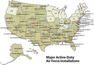 map of air bases in air bases in california map