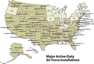 air bases in california map california map