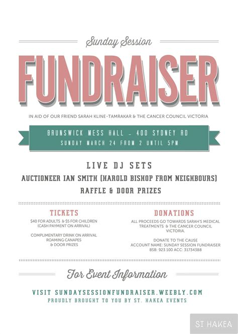 Fundraiser Flyer sunday session fundraiser event flyer proudly bought to