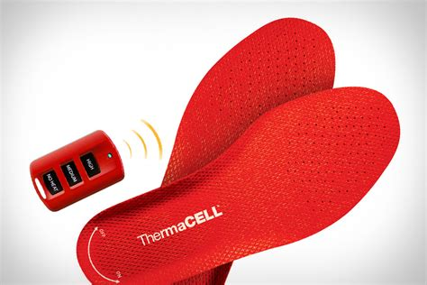 heated shoe inserts thermacell heated insoles uncrate