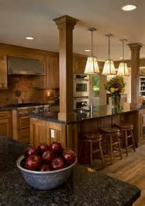 kitchens with islands kitchen island with columns load bearing wall dream home
