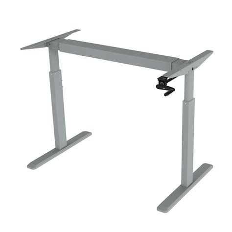height adjustable desk frame only canary grey adjustable height crank desk frame abc256gr
