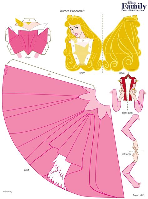 Princess Papercraft - princesas disney 3 d moldes paper craft convites