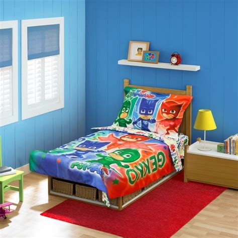 target toddler bed sets pj masks 174 blue bedding set toddler target