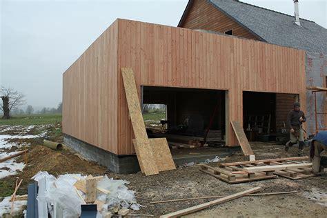 autoconstruction garage ossature bois agrandissement maison ossature bois boismaison