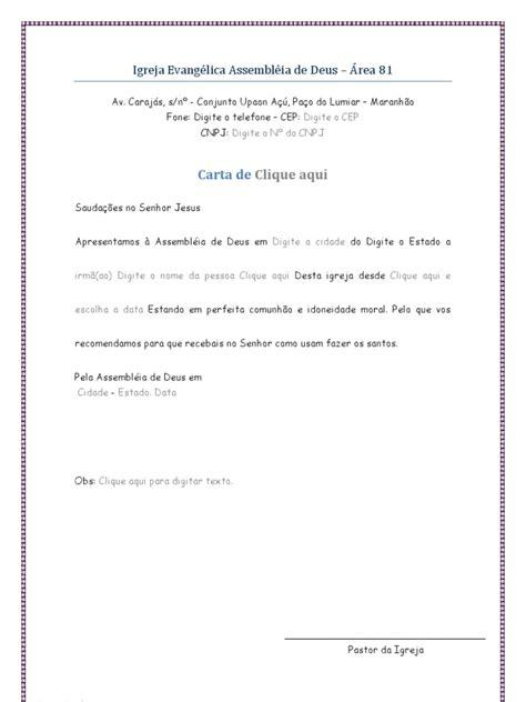 carta de transferencia entre igrejas batistas carta de recomenda 231 227 o ou mudan 231 a