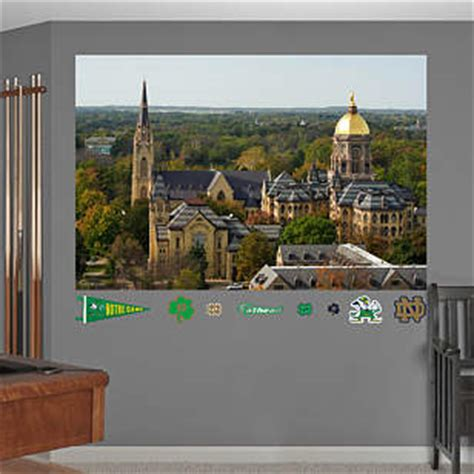 notre dame home decor notre dame cus mural