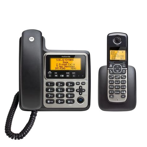 motorola 2 handset corded cordless home phone with