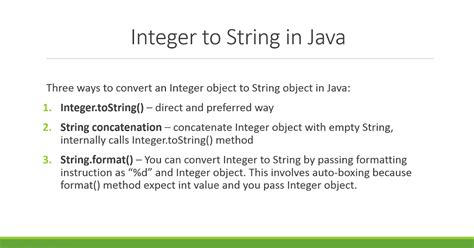 Java Pattern To Convert One Object To Another | java how to convert from integer to string java67