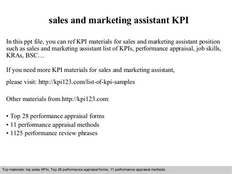 sales and marketing assistant kpi